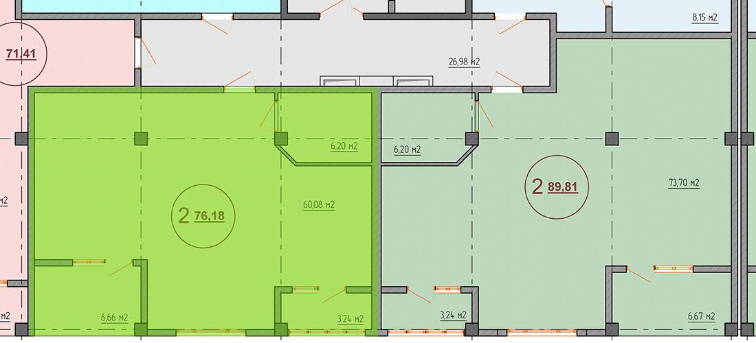 Квартиры 76 кв. м ЖК Санаторный Крым Саки