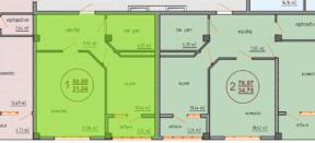 Квартира Специальной планировки 50 кв м, размещение перегородок