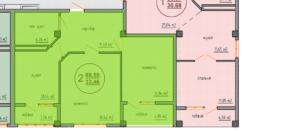 Планировка квартиры Специальной планировки 70,83 кв м