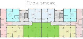 Квартира 88 кв. м на плане этажа Крым Саки ЖК Санаторный