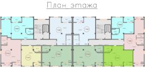Квартира Специальной планировки 70,83 кв м на плане этажа