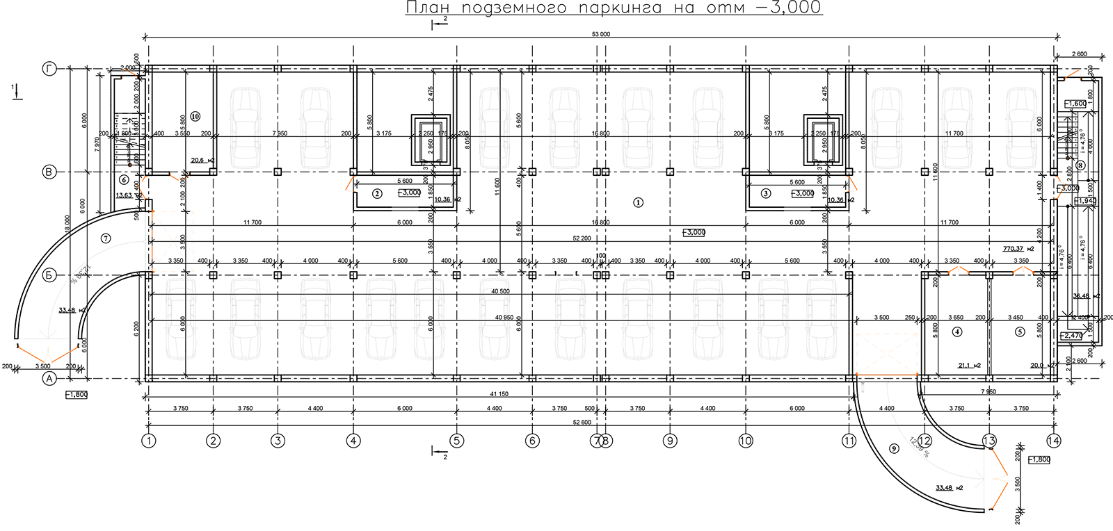 План парковки ЖК Санаторный