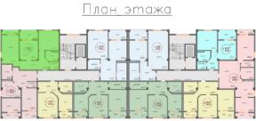 Квартира Специальной планировки 86 на плане этажа