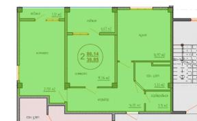 Планировка квартиры Специальная 89 кв м