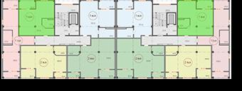 Квартиры 63 кв. м этажа ЖК Санаторный Саки Крым